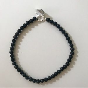 Onyx and Sterling Silver Necklace